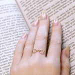 14K Rose Gold Readers Ring, Jewelry for Bookworms