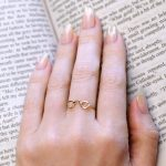 14K Yellow Gold Round Readers Ring, Jewelry for Bookworms