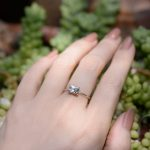 Aquamarine Sparkling Classic Solitaire Ring in 14k Solid Gold and Handmade A Well Loved Natural Gemstone