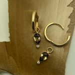 Color Change Andalusite and Diamond Dangling Jackets Handmade in 14k Yellow Gold
