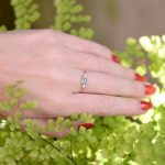 Dainty Emerald and Diamond Stacking Ring in 14K Gold