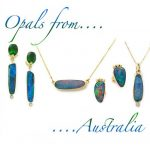 Ethereal Blue and Red Flash Opal Pendant in 14K Gold on 16″ Chain