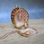Feminine Soft Pink Pearl Pendant on 14K Rose Gold Cable Chain