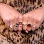 Irreplaceable Bi-color Montana Agate 14K Gold Ring in Orange and White