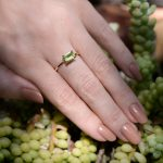 Peridot 1 Carat Solitaire Ring in a 14K Yellow Gold Setting Simply Elegant and Classic