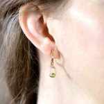 Premium Handmade Peridot Dangles in 18K Gold with Removable 14K Hoops