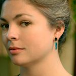 Rare Green Chrome Diopside and Australian Opal Earrings in 14K & 18K Gold with Diamonds