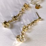 Sparkling Mystical Natural Herkimer Diamond Quartz and Authentic Diamonds 'Waterfall Earrings' Handmade in Solid 14k Gold