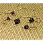 Luminous Claret-Colored Red Mozambique Garnets set in 14K Solid Gold Suspended on Comfortable Secure Huggy Hoops